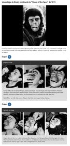 Tutoriel Roddy_McDowall_Planet_of_the_Apes_makeup_1974